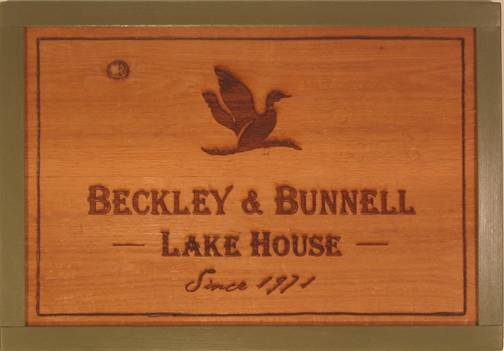 Rustic cedar wooden sign featuring a duck, duck camp sign, duck lakehouse sign